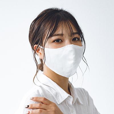 【即納】シルク×ガーゼ立体マスク(ポケット付き/3枚仕立て)