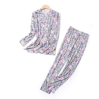 HANAMOLI シルクニット前開きパジャマ