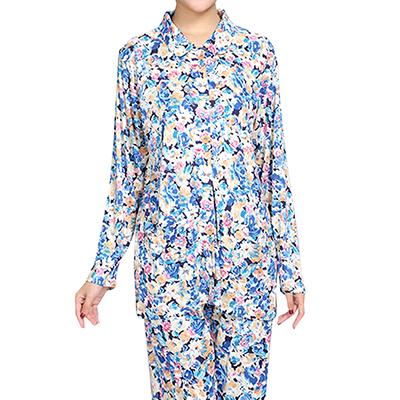 シルク襟付きパジャマ{Hanamoli}