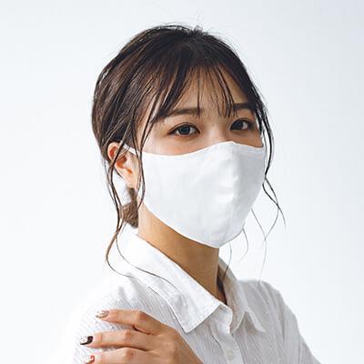 シルク×ガーゼ立体マスク(ポケット付き/3枚仕立て)