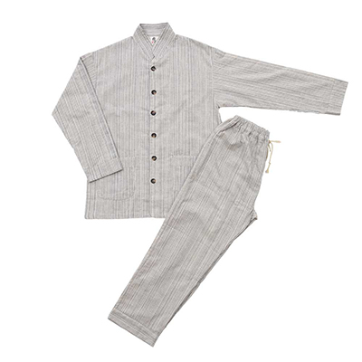 【NEW】和晒いろは織パジャマ(男女兼用)